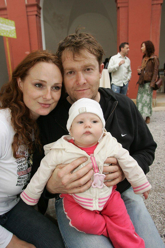 Markéta Hrubešová s exmanželem Davidem Krausem a dcerou Christel