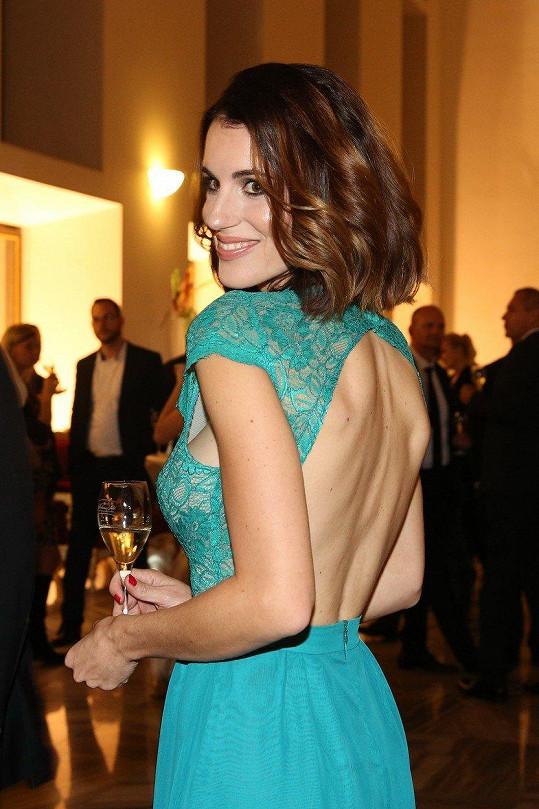 Lucie Křížková oslňovala v sexy šatech.