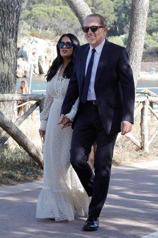 Herečka s manželem