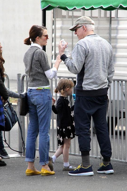 Martin s manželkou Anne Stringfield a jejich dcerou na farmářských trzích.