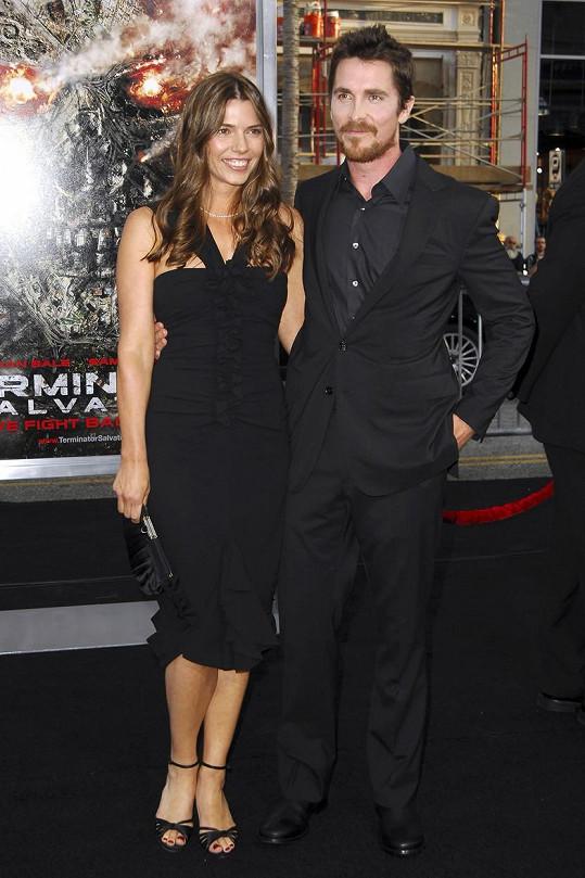 Christian Bale s manželkou Sibi Blazic