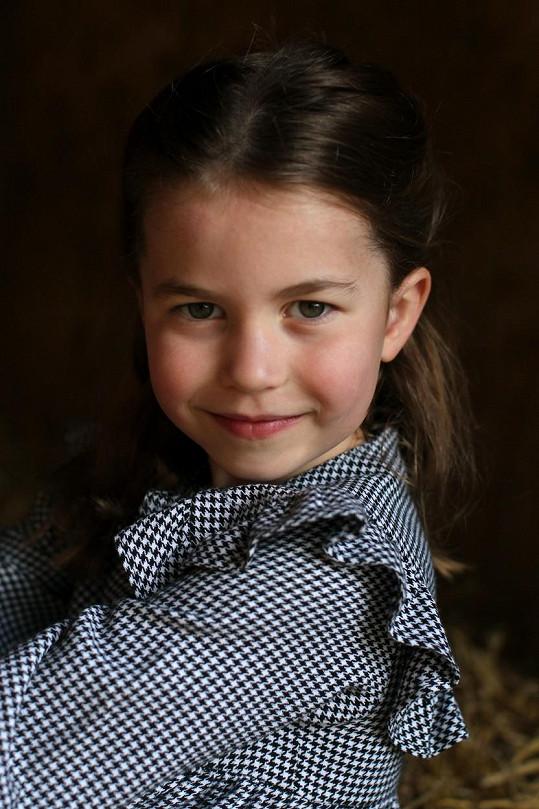 Princezna Charlotte na jednom z narozeninových snímků