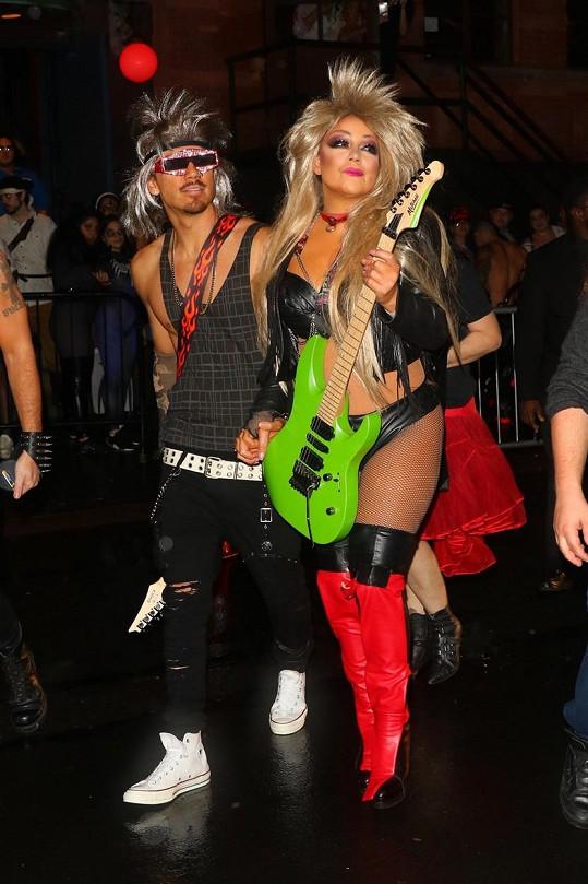 S přítelem Bryanem zvolili metalový styl.