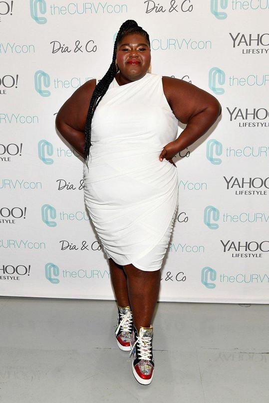 Gabourey zvolila bílé šaty.