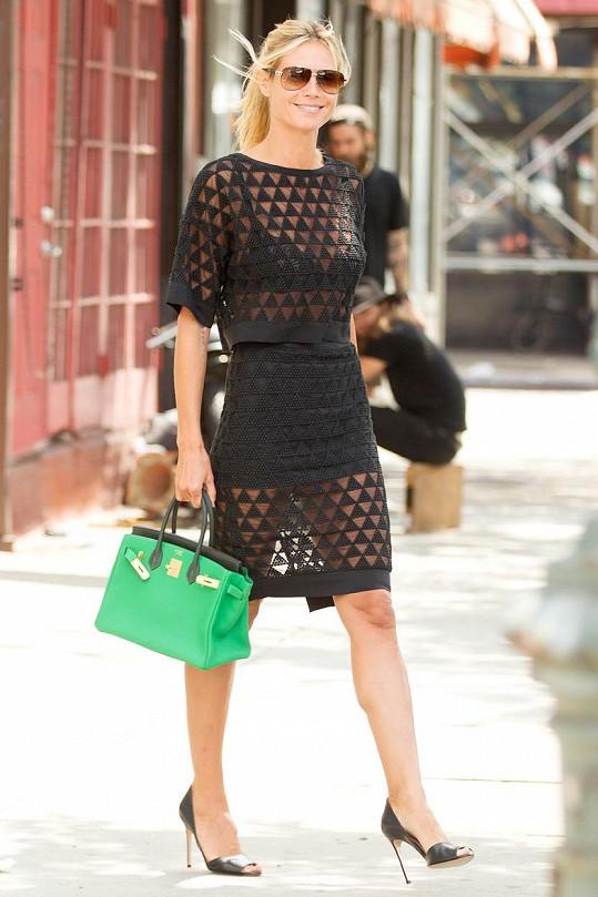 Útlounká Heidi ve středu v New Yorku