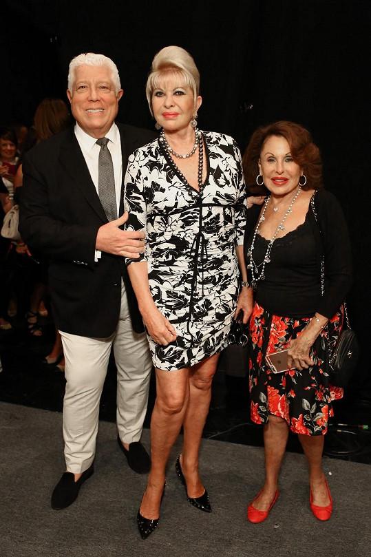 Ivana s Nikki Haskell a návrhářem Dennisem Bassem