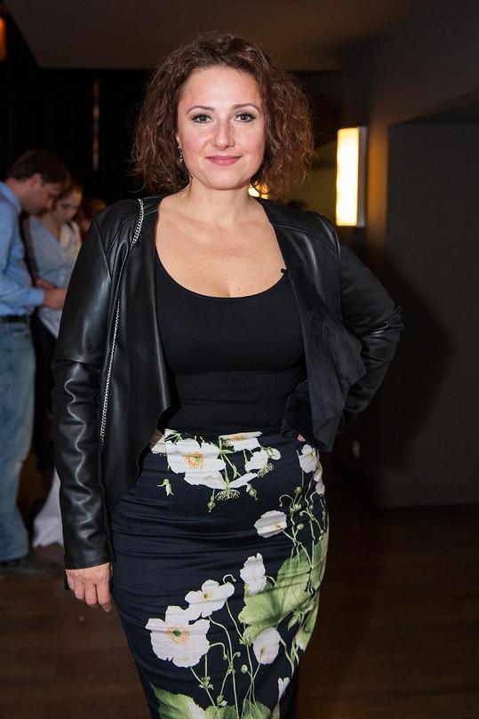 Zuzana Mauréry na prezentaci seriálu Tajné životy