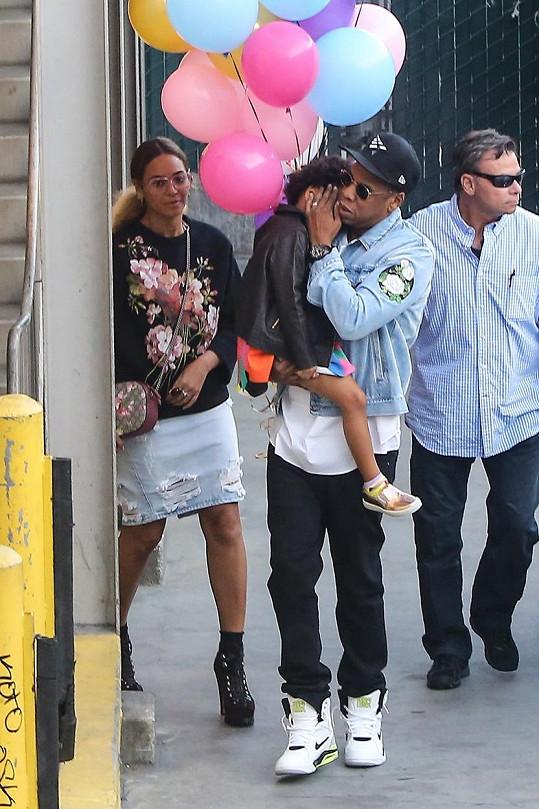 Beyoncé a Jay-Z s jejich dcerou Blue Ivy