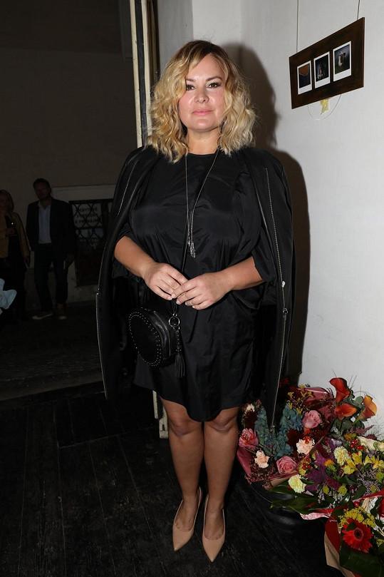 Jitka Čvančarová přišla na akci jako blondýnka.