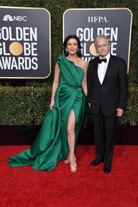 Michael Douglas a Catherine Zeta-Jones na udílení Zlatých glóbů