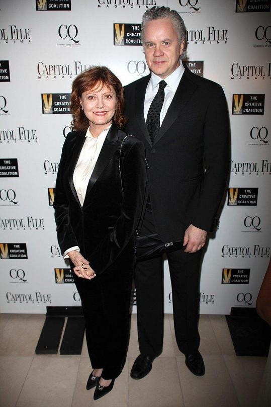 Tim Robbins s bývalou partnerkou Susan Sarandon, která před lety také karlovarský festival navštívila.