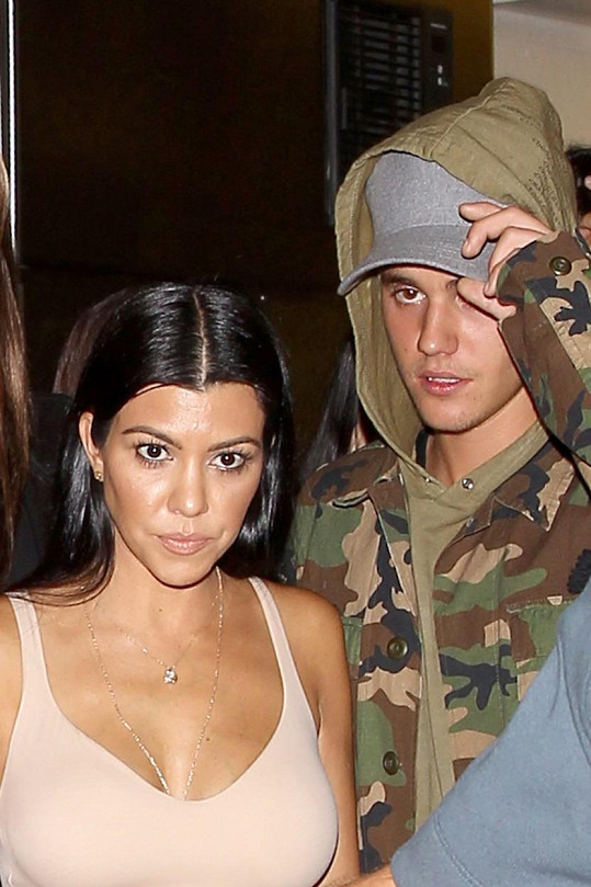 Kourtney Kardashian a Justin Bieber