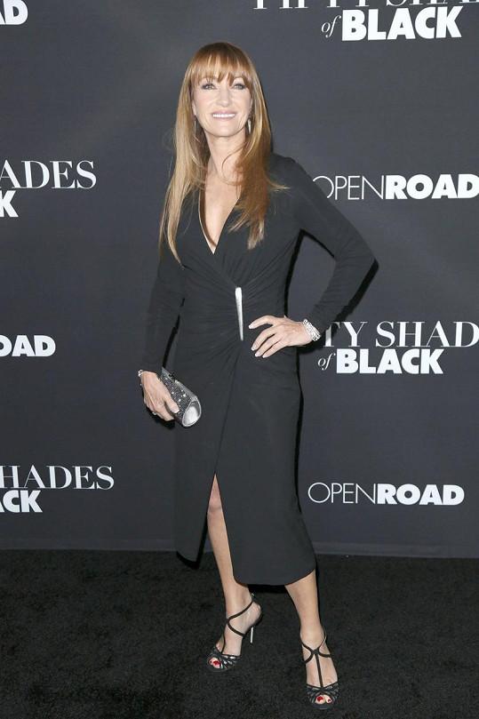 Jane Seymour na premiéře filmu Padesát odstínů černé
