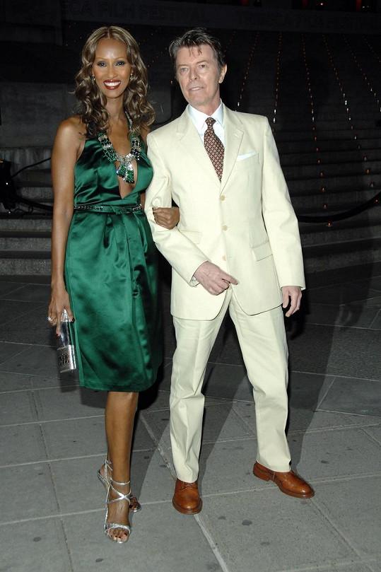 Iman byla Bowieho manželkou až do jeho smrti.