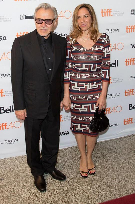 Harvey Keitel s manželkou
