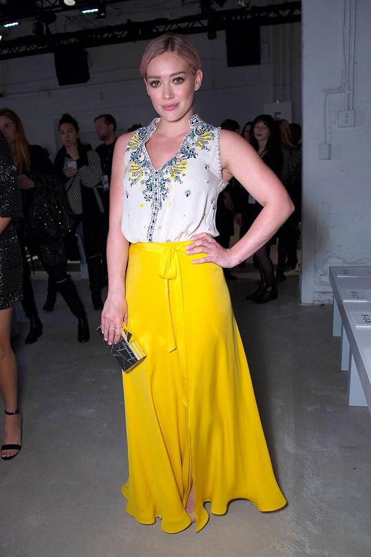 Hilary Duff na přehlídce v New Yorku