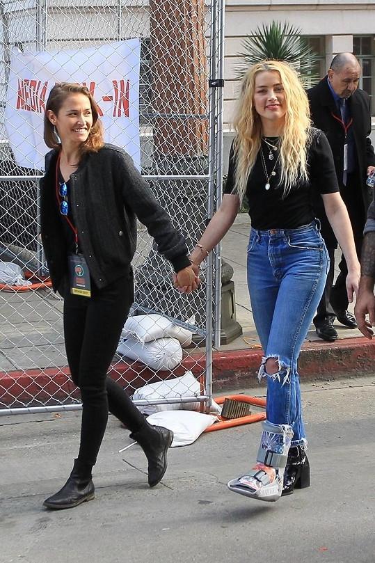 Amber Heard s nynější přítelkyní Biancou Butti