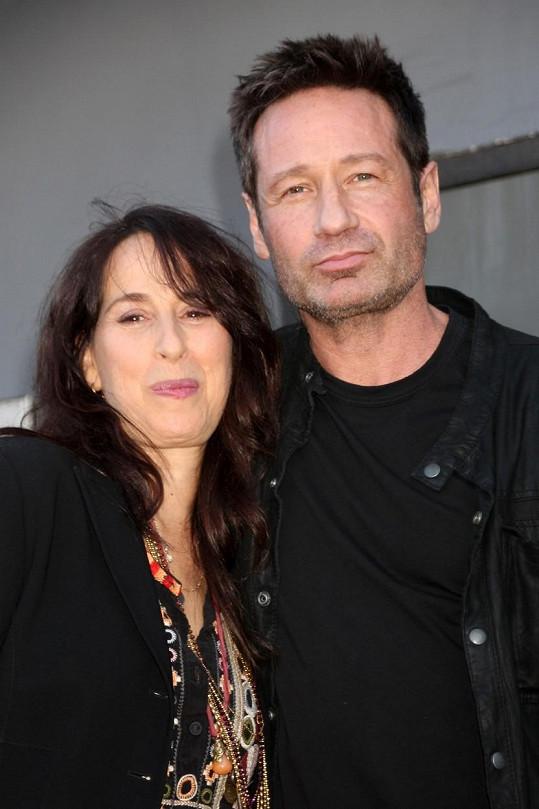 Wheeler na snímku z konce ledna s Davidem Duchovnym, s nímž si zahrála v seriálu Californication.