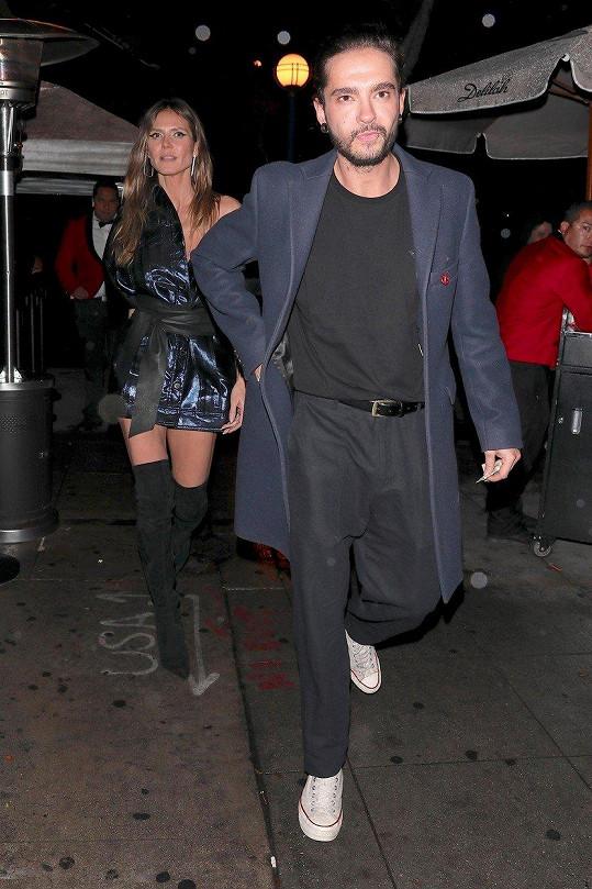 Heidi Klum a Tom Kaulitz dali společným odchodem z večírku prostor spekulacím...