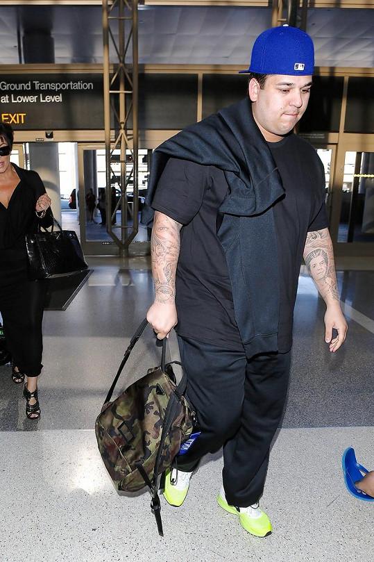 Otylý Rob Kardashian je zamilovaný.