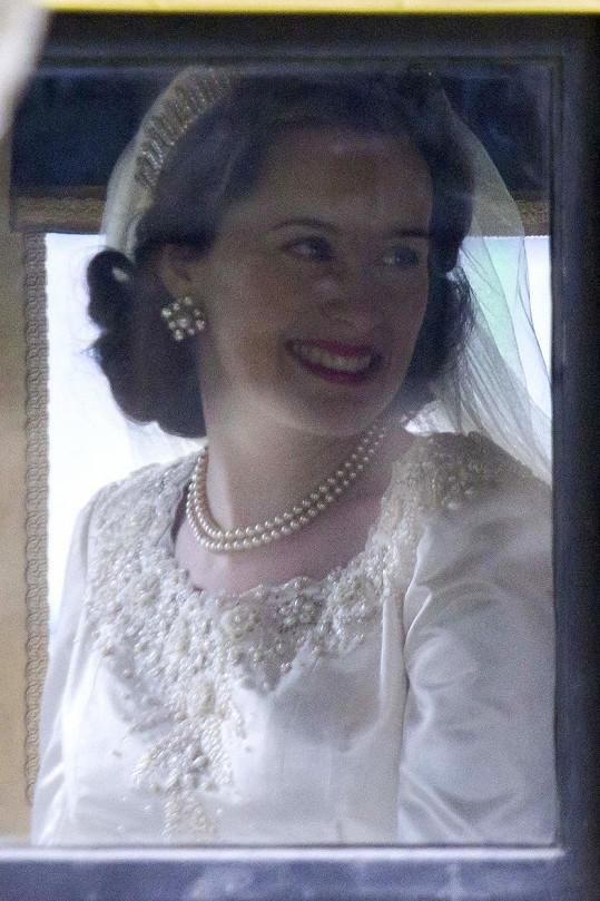 V sérii s názvem The Crown ji ztvární herečka Claire Foy.