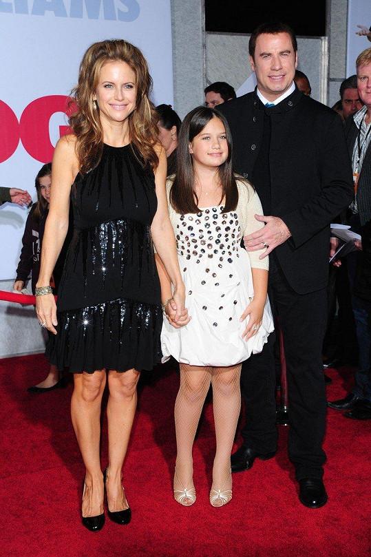 Ella s rodiči v roce 2009 na premiéře snímku Old Dogs