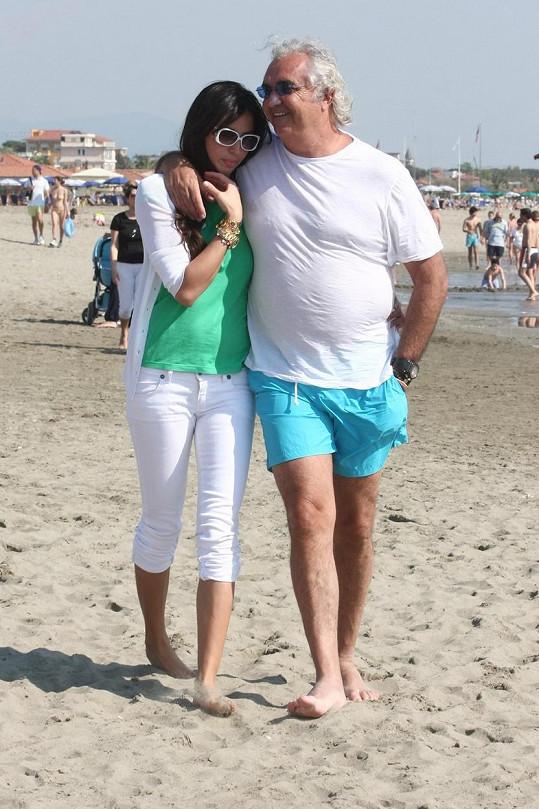 Flavio Briatore a Elisabetta Gregoraci se rozvedli před třemi lety.