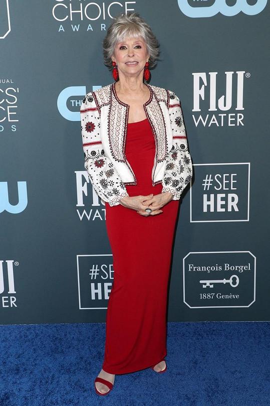 Rita Moreno vypadá na svůj věk skvěle.