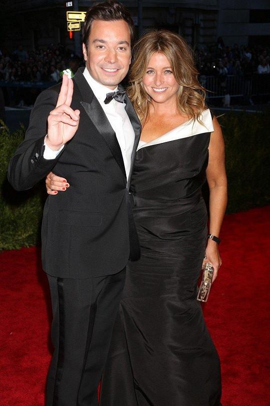 Jimmy Fallon s manželkou