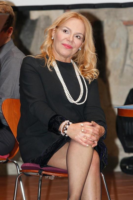 Dagmar Havlová na předávání ceny své nadace Vize 97