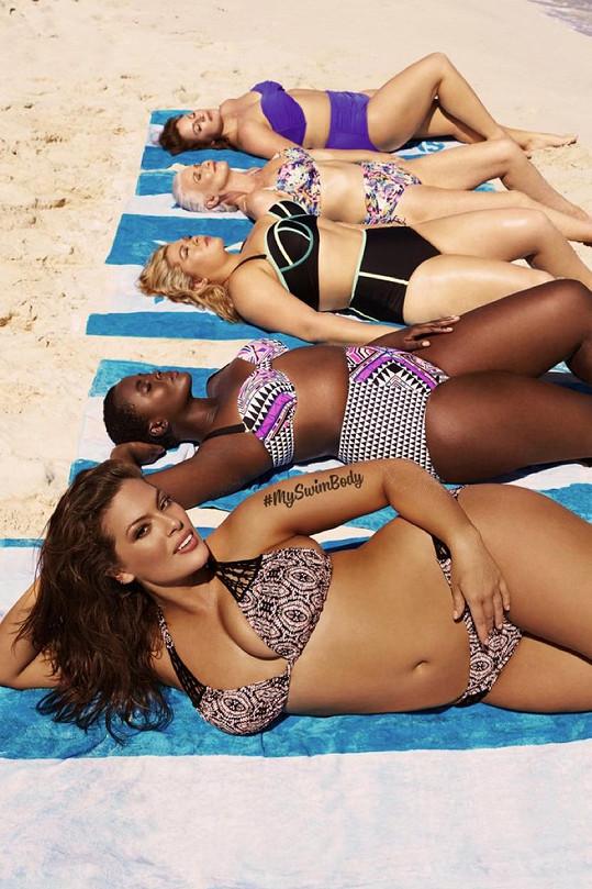 Jsou to právě plavky a bikiny, co Ashley fotí v kampaních nejčastěji.