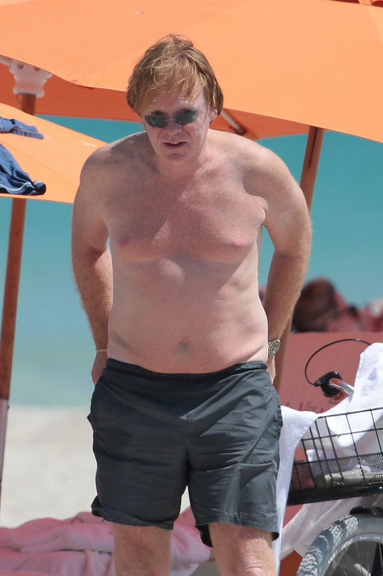 David Caruso na pláži v Miami