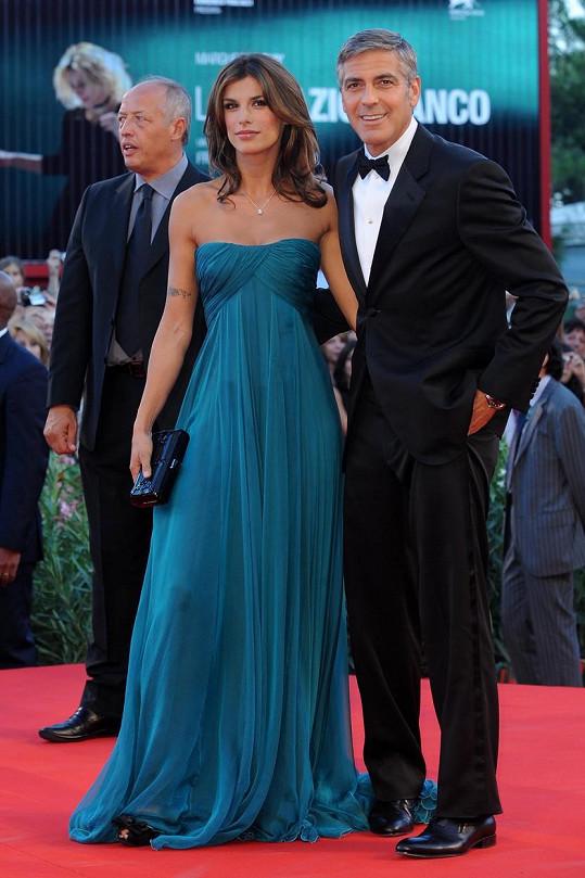 Elisabetta Canalis dříve chodila s Georgem Clooneym.