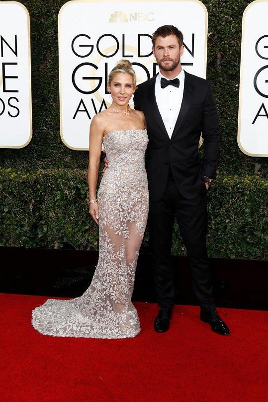 Elsa Pataky a Chris Hemsworth na loňském udílení Zlatých glóbů