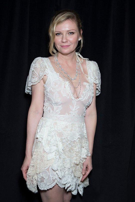 Kirsten Dunst má běžně štíhlou postavu.