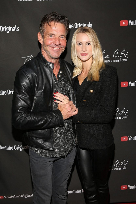 Dennis Quaid s manželkou Laurou Savoie