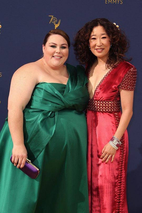 Chrissy Metz s herečkou Sandrou Oh