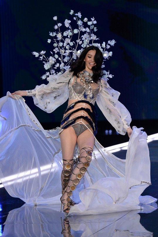 Místo formální prezentace modelu však osmadvacetiletá modelka předvedla neplánovanou vlastní choreografii.