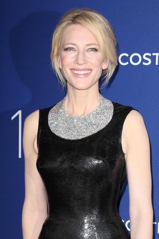 Cate Blanchett předvedla úsměv filmové hvězdy