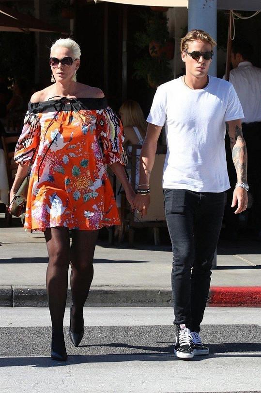 Brigitte Nielsen se synem Douglasem.