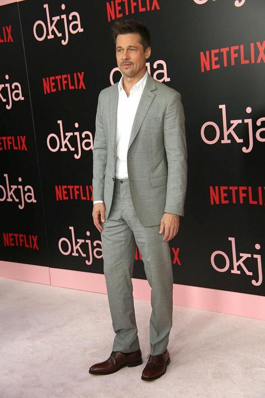 Brad na premiéře filmu Okja