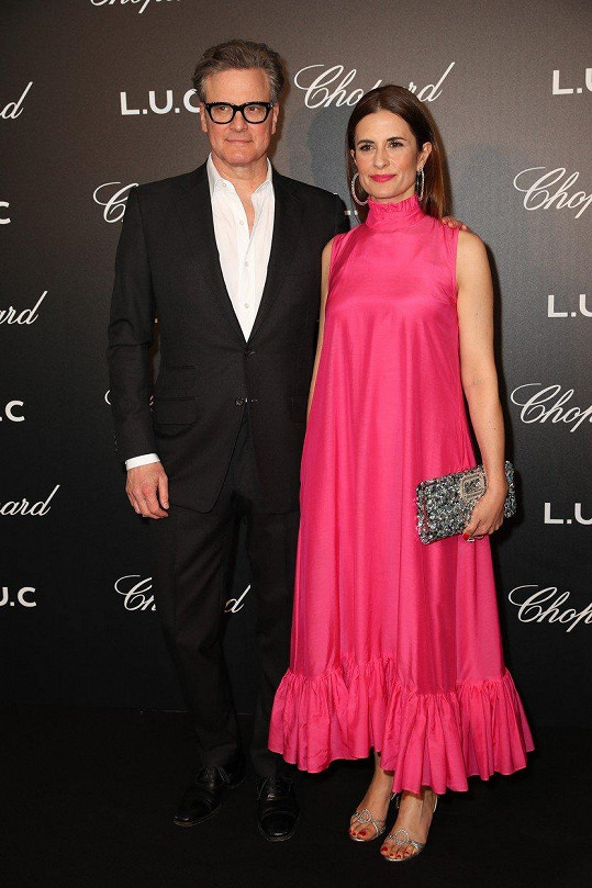 Colin Firth a Livia Giuggioli na party značky Chopard