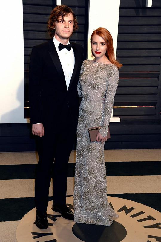 Na večírku Vanity Fair s partnerem Evanem jakbysmet