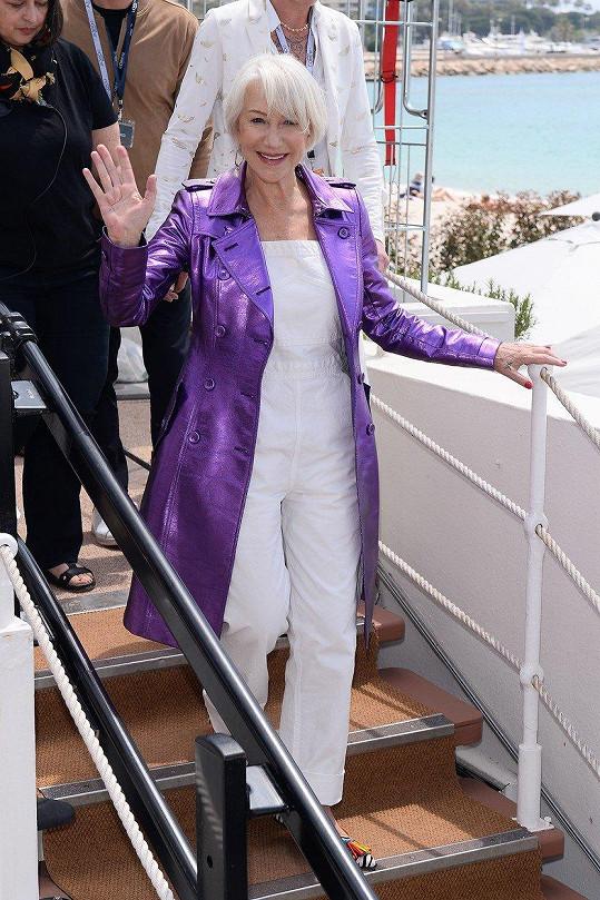 Helen Mirren je šik dáma.