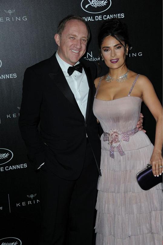 Salma s manželem Francoisem Pinaultem