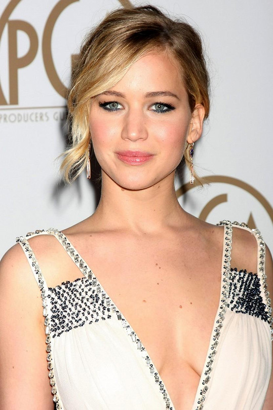 Jennifer Lawrence na udílení PGA Awards.