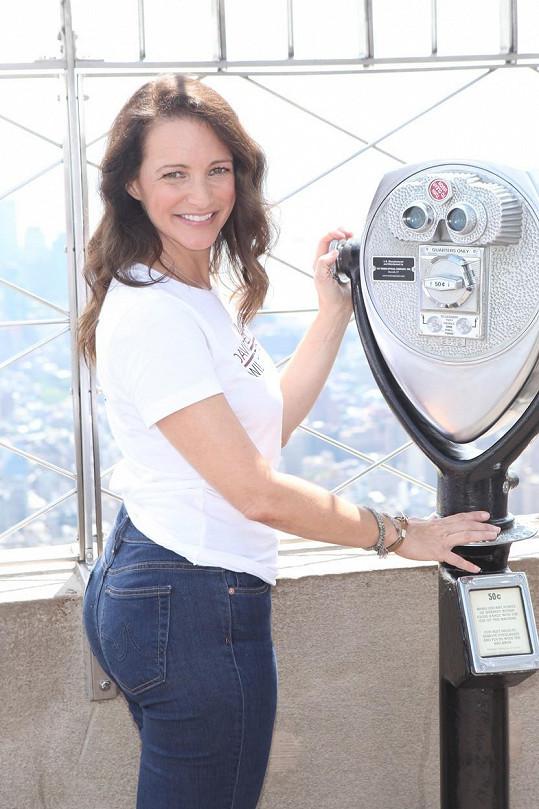 Kristin Davis na Empire State Building
