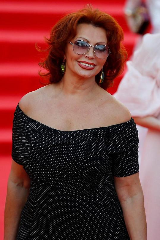 Sophia Loren na filmovém festivalu v Moskvě