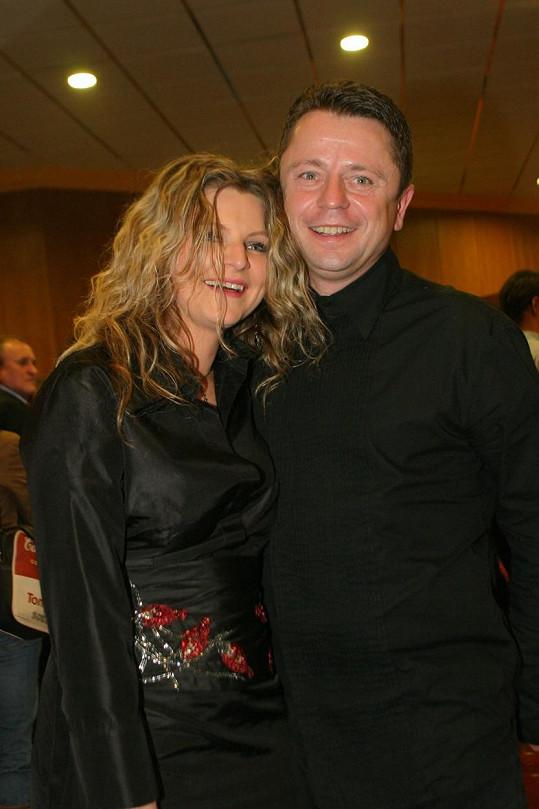 Petr Muk s druhou manželkou Evou