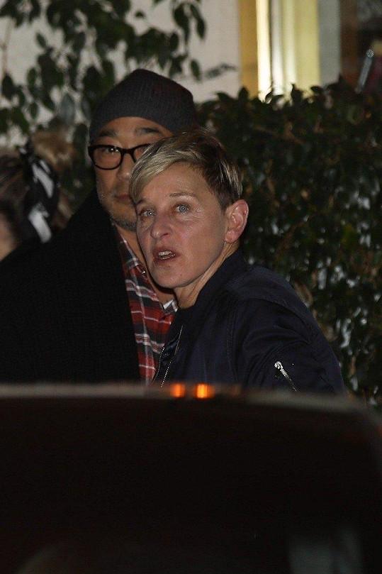 Zavítala i moderátorka Ellen DeGeneres.